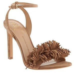 🌸 *nwot* BR mocha brown suede strappy heels